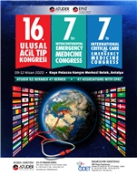 16. Ulusal Acil Tıp Kongresi & 7.Intercontinental Emergency Medicine ve 7. International Critical Care Congress